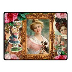 Victorian Collage Of Woman Fleece Blanket (small) by snowwhitegirl