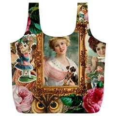 Victorian Collage Of Woman Full Print Recycle Bags (l)  by snowwhitegirl