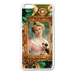 Victorian Collage Of Woman Apple Iphone 6 Plus/6s Plus Enamel White Case by snowwhitegirl