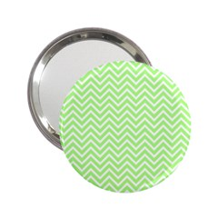 Green Chevron 2 25  Handbag Mirrors by snowwhitegirl