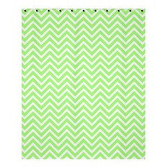 Green Chevron Shower Curtain 60  X 72  (medium)  by snowwhitegirl