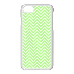 Green Chevron Apple Iphone 7 Seamless Case (white) by snowwhitegirl