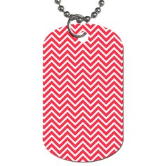Red Chevron Dog Tag (two Sides) by snowwhitegirl