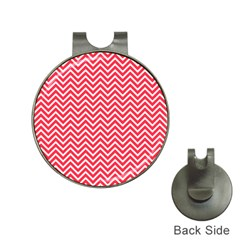 Red Chevron Hat Clips With Golf Markers by snowwhitegirl