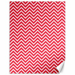 Red Chevron Canvas 12  X 16   by snowwhitegirl