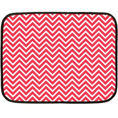 Red Chevron Fleece Blanket (mini) by snowwhitegirl
