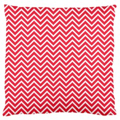 Red Chevron Large Flano Cushion Case (two Sides) by snowwhitegirl
