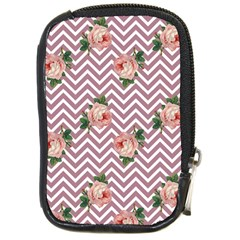 Violet Chevron Rose Compact Camera Cases