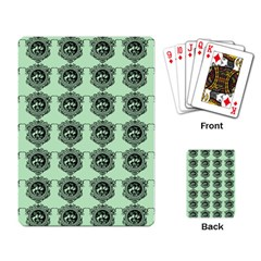 Three Women Green Playing Card