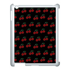 Cherries Black Apple Ipad 3/4 Case (white) by snowwhitegirl