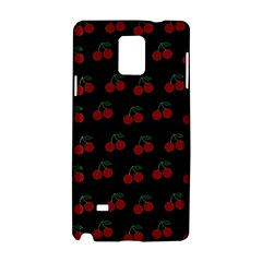 Cherries Black Samsung Galaxy Note 4 Hardshell Case by snowwhitegirl