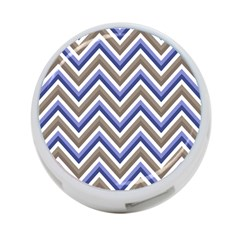 Chevron Blue Beige 4 Port Usb Hub (one Side) by snowwhitegirl