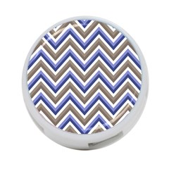 Chevron Blue Beige 4 Port Usb Hub (two Sides)  by snowwhitegirl