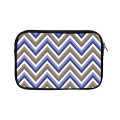 Chevron Blue Beige Apple Ipad Mini Zipper Cases