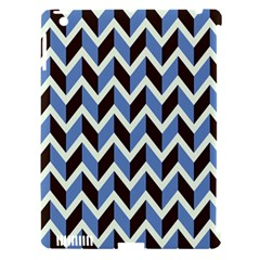 Chevron Blue Brown Apple Ipad 3/4 Hardshell Case (compatible With Smart Cover) by snowwhitegirl