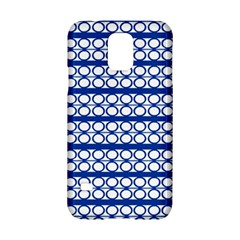 Circles Lines Blue White Samsung Galaxy S5 Hardshell Case  by BrightVibesDesign