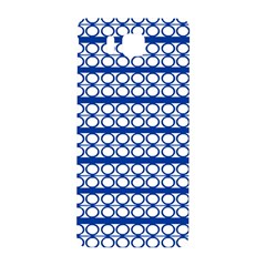 Circles Lines Blue White Samsung Galaxy Alpha Hardshell Back Case by BrightVibesDesign