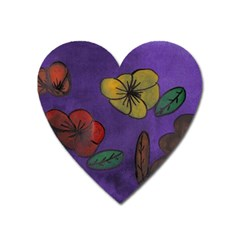 Flowers Heart Magnet