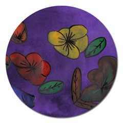 Flowers Magnet 5  (round)