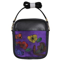 Flowers Girls Sling Bags
