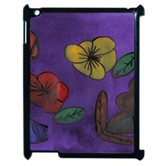Flowers Apple Ipad 2 Case (black) by snowwhitegirl