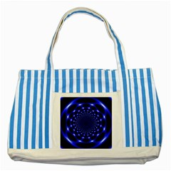 Indigo Lotus 2 Striped Blue Tote Bag by vwdigitalpainting