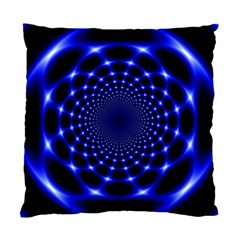 Indigo Lotus  Standard Cushion Case (two Sides) by vwdigitalpainting