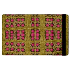 Bloom In Gold Shine And You Shall Be Strong Apple Ipad 2 Flip Case by pepitasart