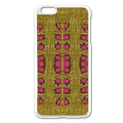 Bloom In Gold Shine And You Shall Be Strong Apple Iphone 6 Plus/6s Plus Enamel White Case by pepitasart