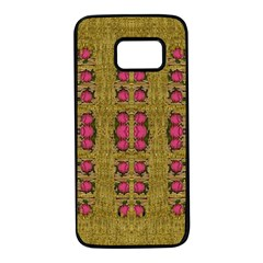 Bloom In Gold Shine And You Shall Be Strong Samsung Galaxy S7 Black Seamless Case by pepitasart