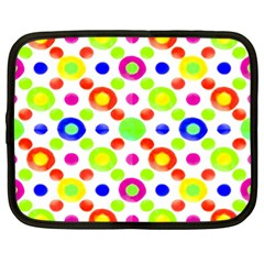 Multicolored Circles Motif Pattern Netbook Case (xl)  by dflcprints