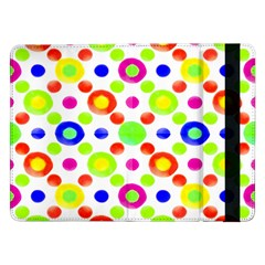 Multicolored Circles Motif Pattern Samsung Galaxy Tab Pro 12 2  Flip Case by dflcprints