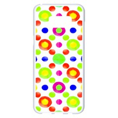 Multicolored Circles Motif Pattern Samsung Galaxy S8 Plus White Seamless Case by dflcprints