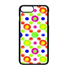 Multicolored Circles Motif Pattern Apple Iphone 8 Plus Seamless Case (black)