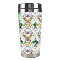Nine Little Cartoon Dogs In The Green Grass Stainless Steel Travel Tumblers by pepitasart