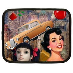 Out In The City Netbook Case (xl)  by snowwhitegirl