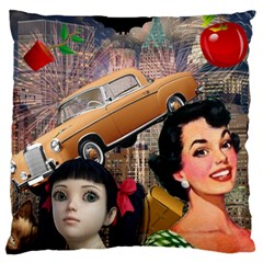 Out In The City Large Cushion Case (two Sides) by snowwhitegirl