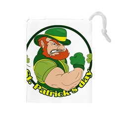 St  Patricks Day Drawstring Pouches (large)