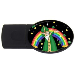 St  Patrick  Dabbing Usb Flash Drive Oval (2 Gb) by Valentinaart