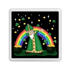 St  Patrick  Dabbing Memory Card Reader (square)  by Valentinaart