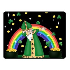 St  Patrick  Dabbing Double Sided Fleece Blanket (small)