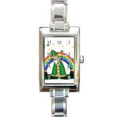 St  Patrick  Dabbing Rectangle Italian Charm Watch by Valentinaart