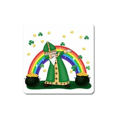 St  Patrick  Dabbing Square Magnet by Valentinaart