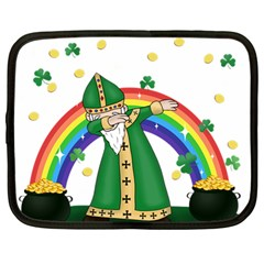 St  Patrick  Dabbing Netbook Case (large) by Valentinaart
