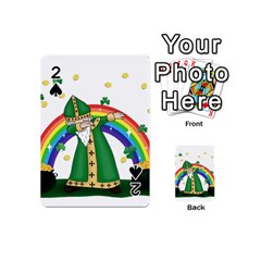 St  Patrick  Dabbing Playing Cards 54 (mini)  by Valentinaart