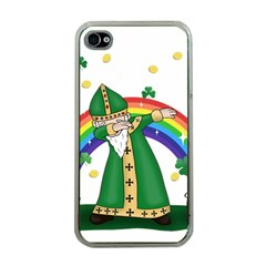 St  Patrick  Dabbing Apple Iphone 4 Case (clear) by Valentinaart