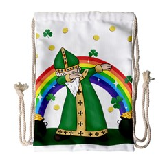 St  Patrick  Dabbing Drawstring Bag (large) by Valentinaart
