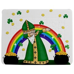 St  Patrick  Dabbing Jigsaw Puzzle Photo Stand (rectangular) by Valentinaart