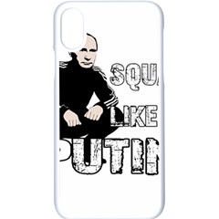 Squat Like Putin Apple Iphone X Seamless Case (white) by Valentinaart