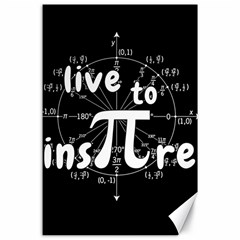 Pi Day Canvas 24  X 36  by Valentinaart